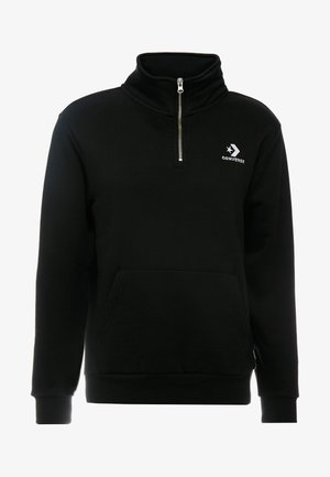 ZIP SWEATSHIRT REVERSED - Sweatshirt - black
