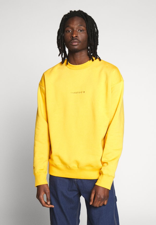 MOCK NECK CREW - Sudadera - sunflower gold
