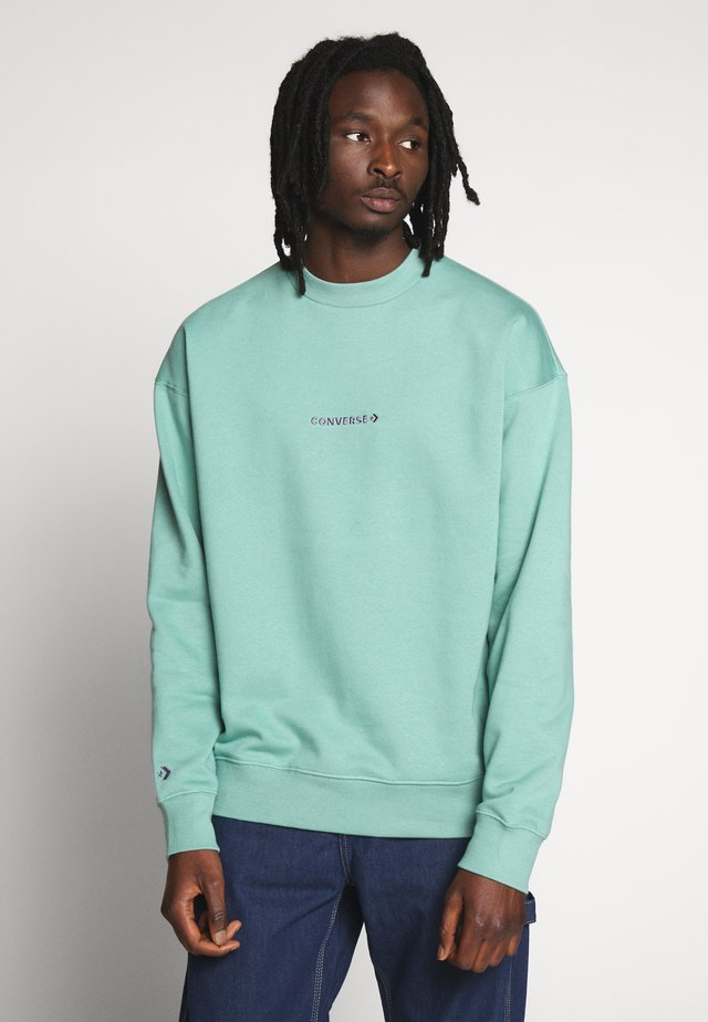MOCK NECK CREW - Sweatshirt - mineral teal