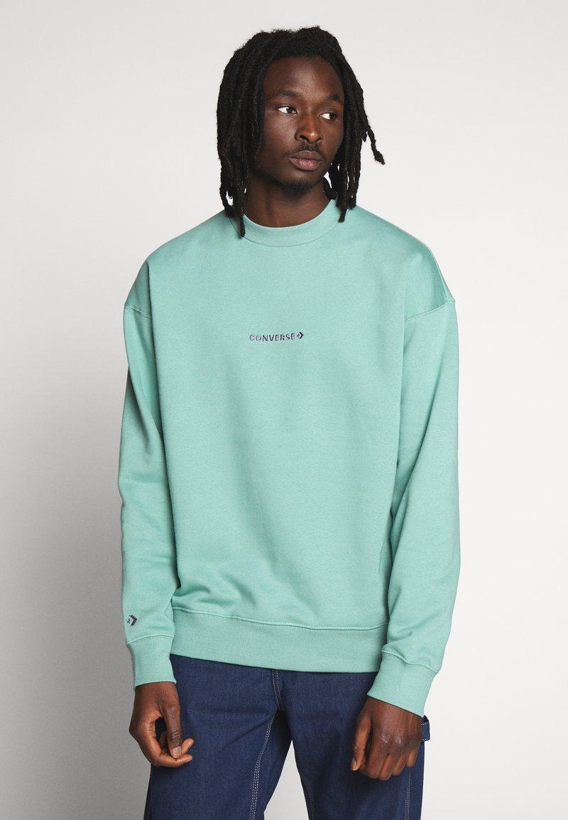 Converse - MOCK NECK CREW - Sweatshirt - mineral teal