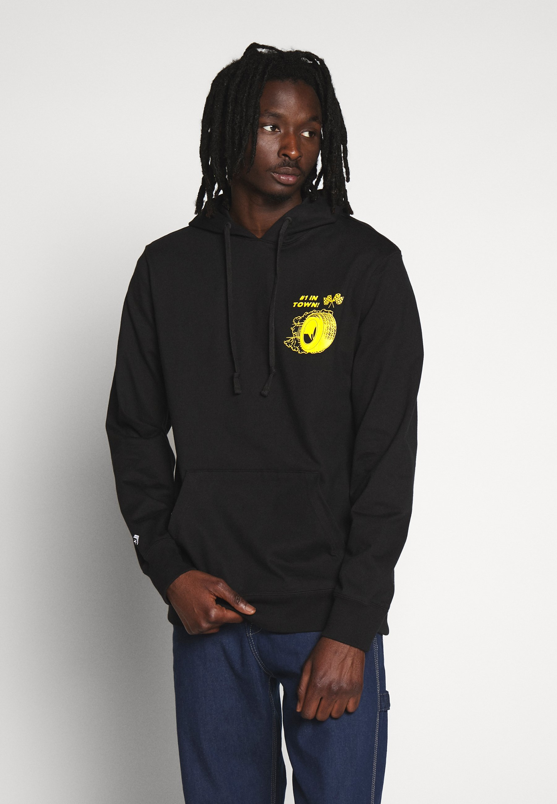 Converse AUTO REPAIR GRAPHIC HOODIE - Bluza z kapturem - black