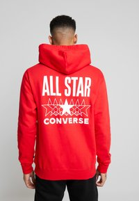 Converse - ALL STAR PULL OVER HOODIE - Luvtröja - university red - 2
