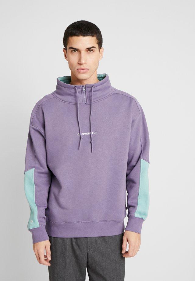 FUNNEL NECK WORDMARK  - Sweatshirt - moody purple