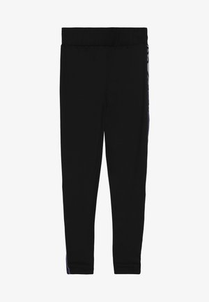 HIGH RISE WITH WORDMARK - Legging - black