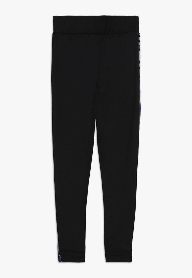 HIGH RISE WITH WORDMARK - Leggings - Trousers - black