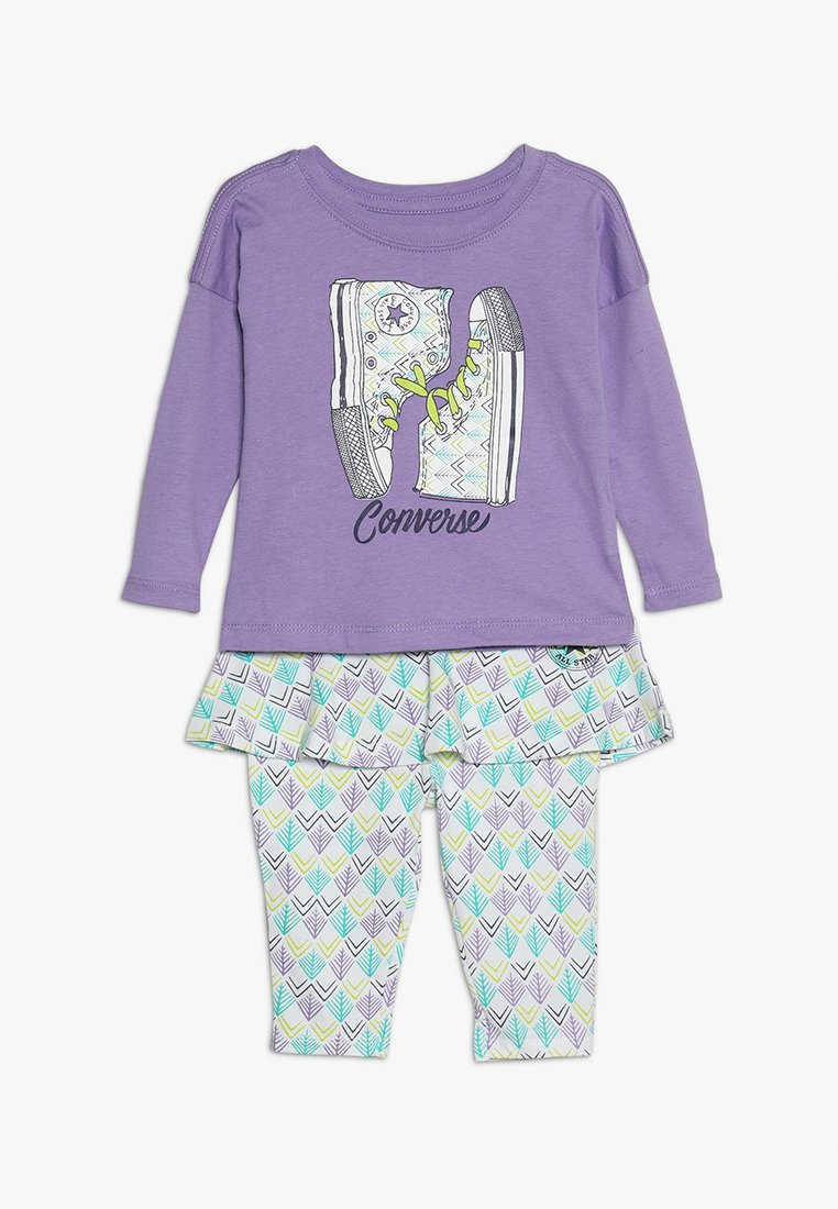 Converse - SKIRTED LEGGING BABY SET - Legging - purple