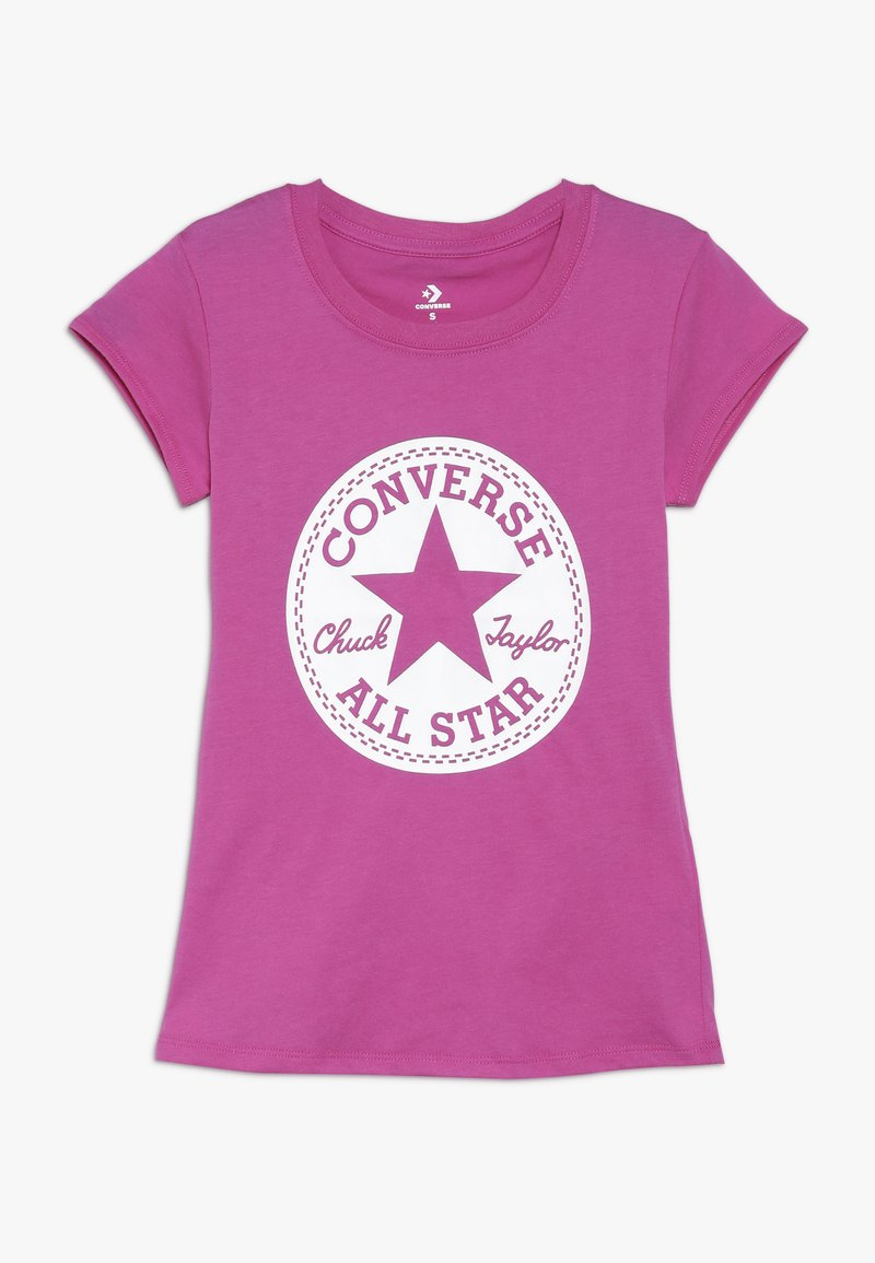 Converse - CHUCK TAYLOR SIGNATURE TEE - Print T-shirt - active fuschia