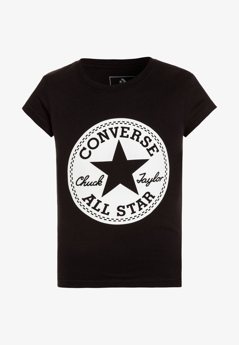 Converse - CHUCK TAYLOR SIGNATURE TEE - Camiseta estampada - black