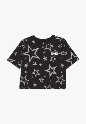 PRINTED ALL STAR BOXY TEE - Print T-shirt - black