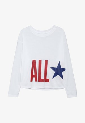 OVERSIZE ALL STAR - Topper langermet - white
