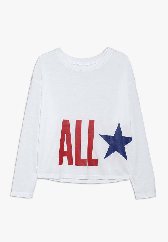 OVERSIZE ALL STAR - Long sleeved top - white