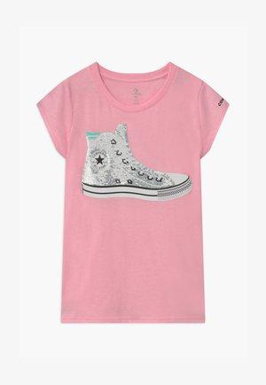 FLIP SEQUIN CHUCK TEE - T-shirt imprimé - pink glaze heather