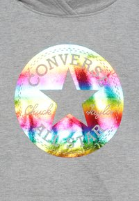 Converse - CROPPED FOIL HOODIE - Sweat à capuche - dark grey heather - 3