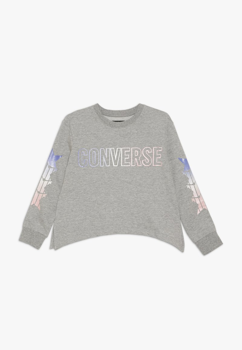 Converse - SHARK GRADIENT CREW - Sweatshirts - dark grey heather