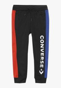 Converse - ASYMMETRICAL COLOURBLOCK PANT - Pantalon de survêtement - black - 0