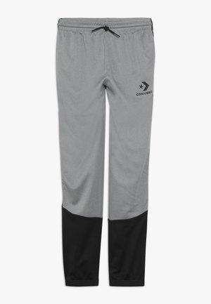 STAR CHEVRON COLORBLOCK TAPING TRACK PANT - Pantalones deportivos - dark grey heather