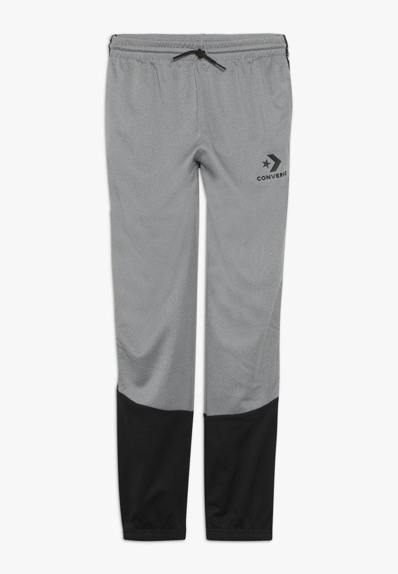 Converse - STAR CHEVRON COLORBLOCK TAPING TRACK PANT - Teplákové kalhoty - dark grey heather