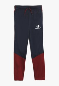 Converse - STAR CHEVRON COLORBLOCK TAPING TRACK PANT - Tracksuit bottoms - obsidian - 0