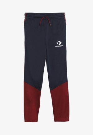 STAR CHEVRON COLORBLOCK TAPING TRACK PANT - Tracksuit bottoms - obsidian