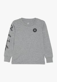 Converse - CHUCK TAYLOR SCRIPT TEE - Long sleeved top - grey heather - 0