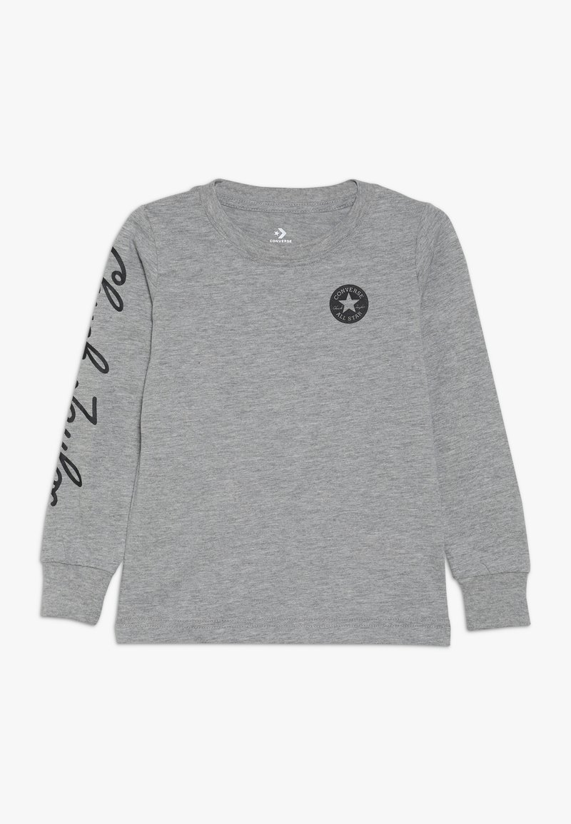 Converse - CHUCK TAYLOR SCRIPT TEE - Long sleeved top - grey heather