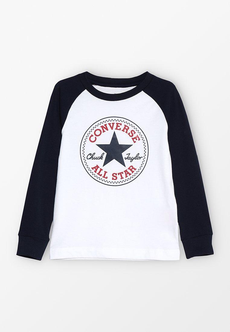 Converse - CHUCK PATCH RAGLAN  - Langærmede T-shirts - white