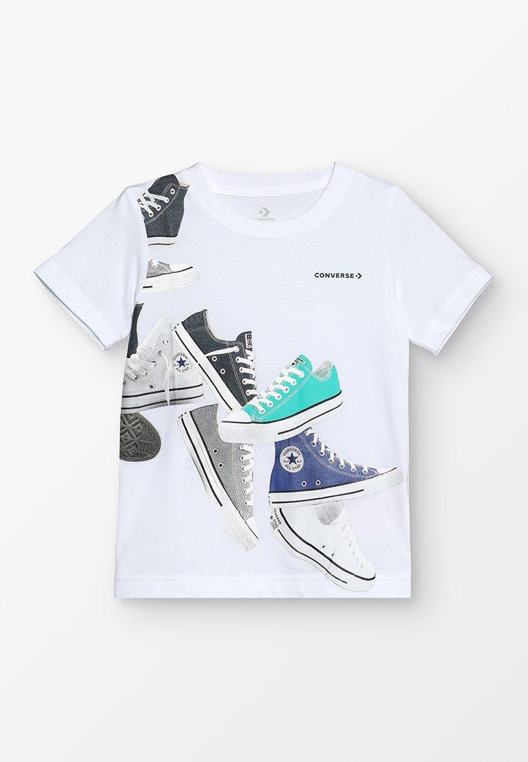 Converse - CHUCKS WRAP TEE - T-shirt imprimé - white