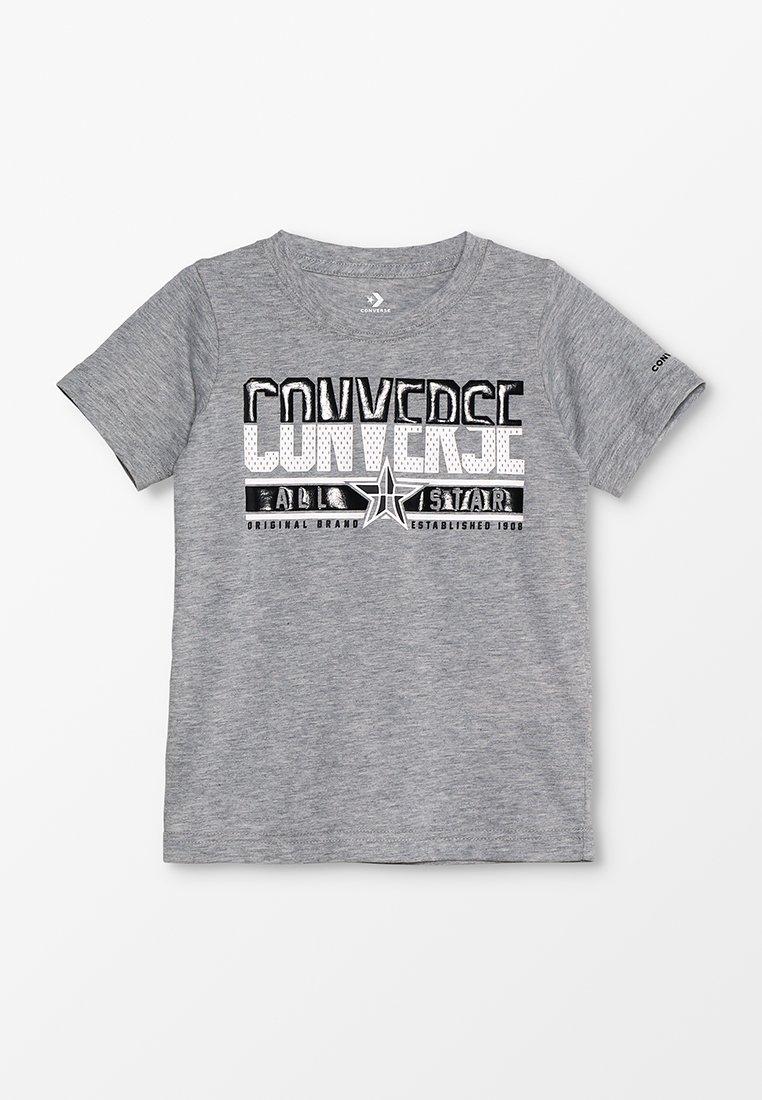 Converse - BASKETBALL STAR TEE - T-shirt imprimé - dark grey heather