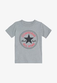 Converse - CORE CHUCK PATCH TEE  - Printtipaita - dark grey heather - 2