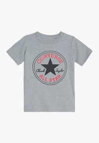 Converse - CORE CHUCK PATCH TEE  - Printtipaita - dark grey heather - 0