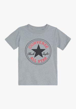 CORE CHUCK PATCH TEE  - Camiseta estampada - dark grey heather