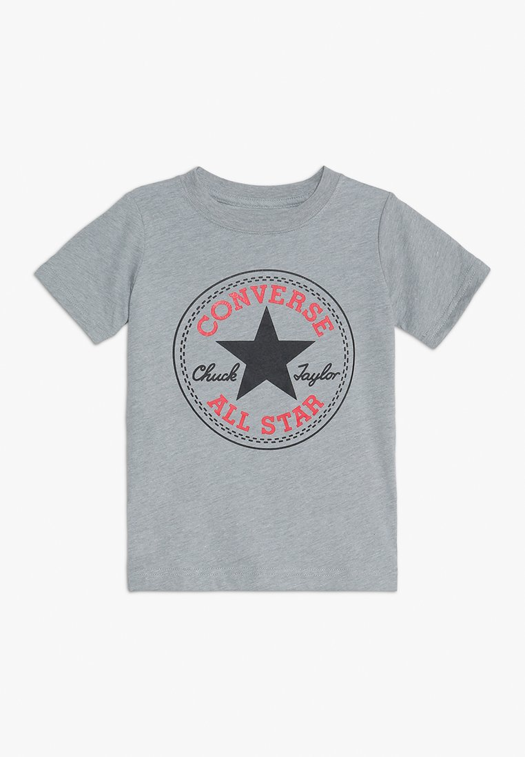 Converse - CORE CHUCK PATCH TEE  - Printtipaita - dark grey heather