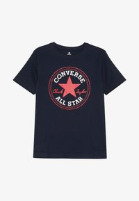 Converse - CORE CHUCK PATCH TEE  - T-shirt con stampa - obsidian/red - 2