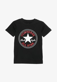 Converse - CORE CHUCK PATCH TEE  - T-shirts med print - black