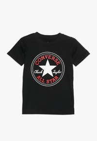 Converse - CORE CHUCK PATCH TEE  - T-shirts med print - black - 0