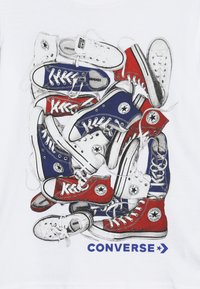 Converse - BIG TIME CHUCK STACK TEE - T-shirt con stampa - white - 3
