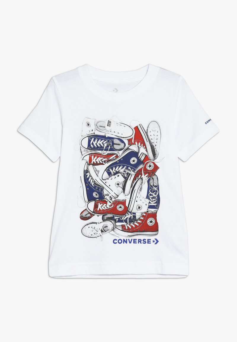 Converse - BIG TIME CHUCK STACK TEE - T-shirts med print - white