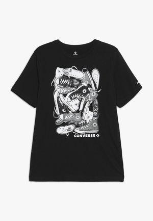 BIG TIME CHUCK STACK TEE - T-shirt imprimé - black