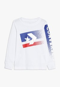 Converse - BITMAP STAR CHEVRON - Long sleeved top - white - 0