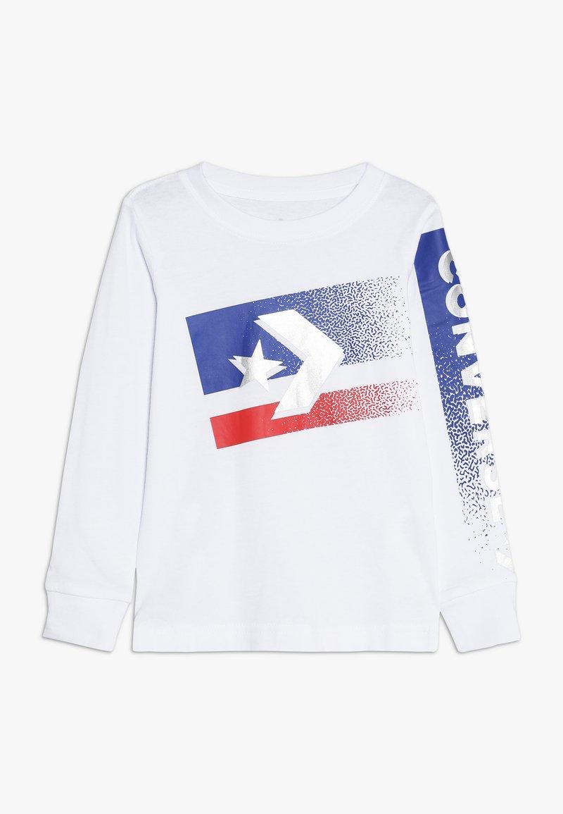 Converse - BITMAP STAR CHEVRON - Long sleeved top - white