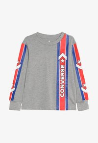 Converse - OVERSIZE SPORT STRIPE - Camiseta de manga larga - dark grey heather