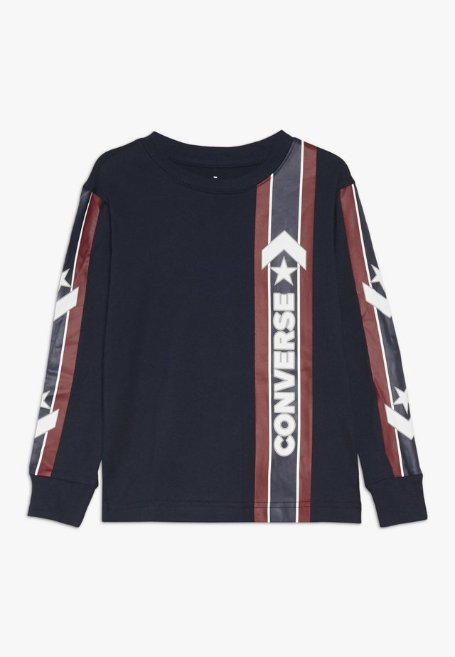 OVERSIZE SPORT STRIPE - Long sleeved top - obsidian