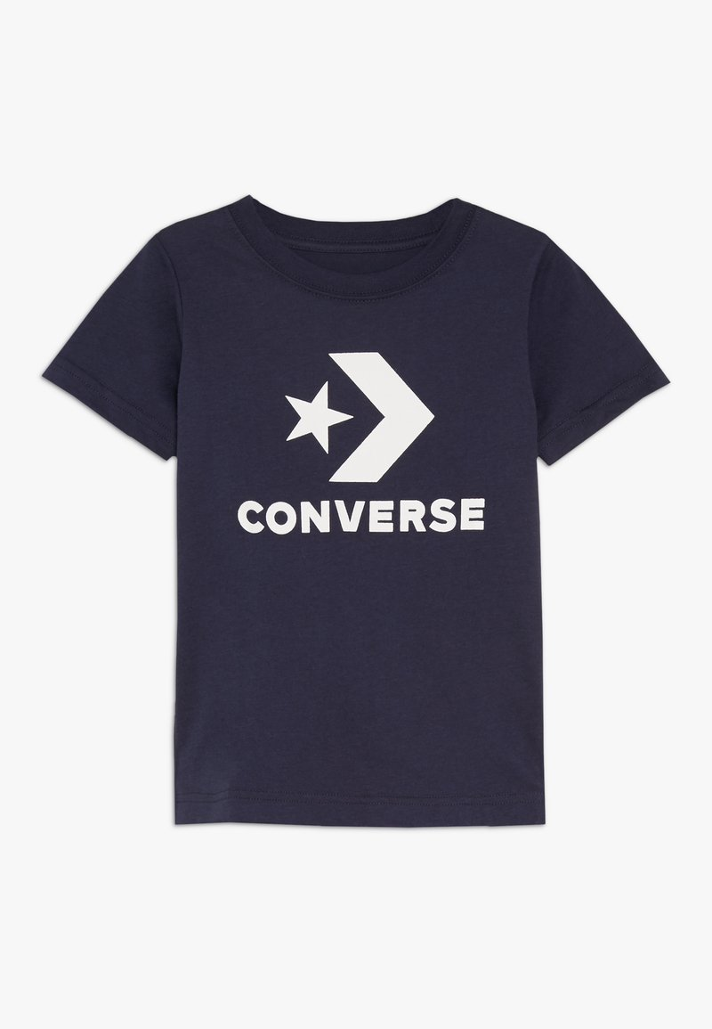 Converse - STACKED WORDMARK GRAPHIC TEE - Print T-shirt - obsidian