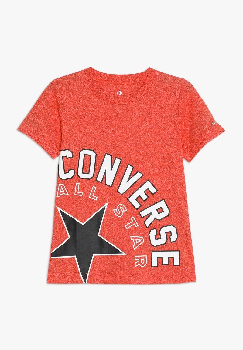 Converse - SIDEWAYS LOCKUP TEE - Camiseta estampada - habanero red