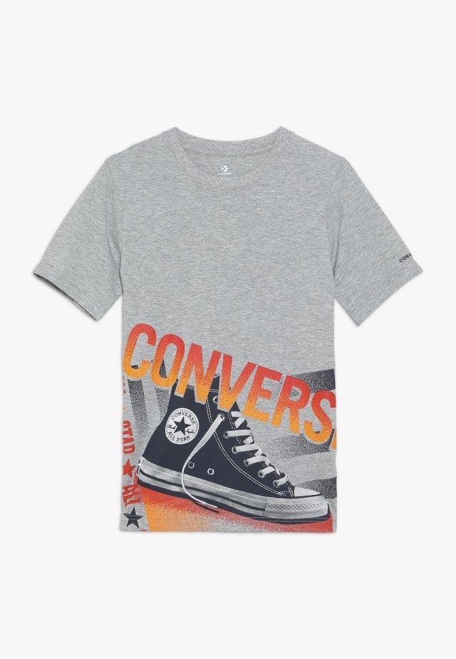 HALFTONE CHUCK TEE - Print T-shirt - dark grey heather