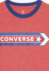 Converse - SPORT STRIPE RINGER TEE - T-shirt con stampa - habanero red - 4