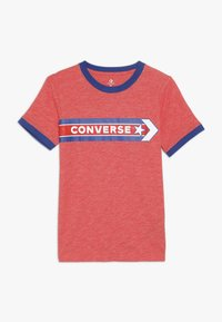 Converse - SPORT STRIPE RINGER TEE - T-shirt con stampa - habanero red - 0