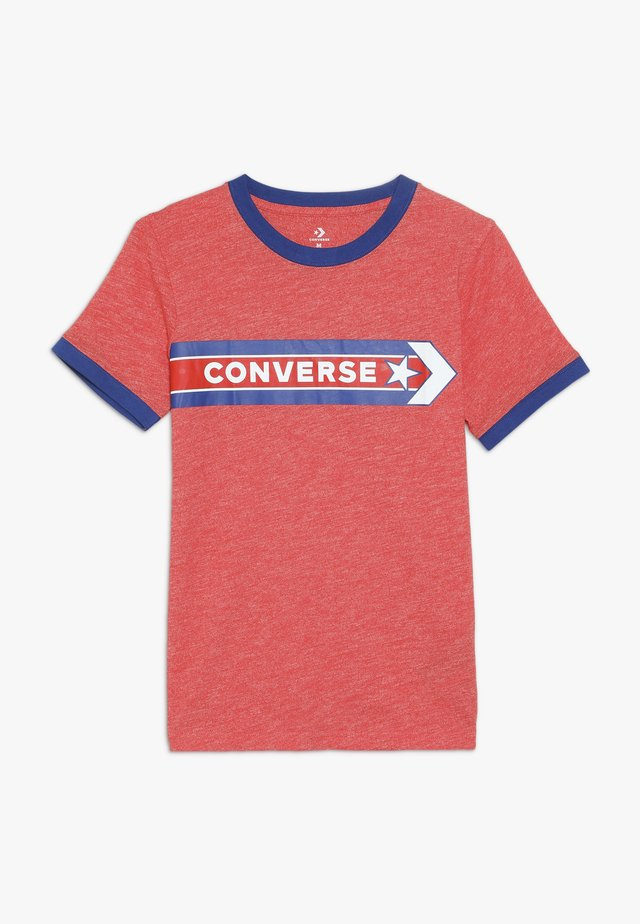 SPORT STRIPE RINGER TEE - Print T-shirt - habanero red