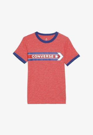 SPORT STRIPE RINGER TEE - T-shirt con stampa - habanero red