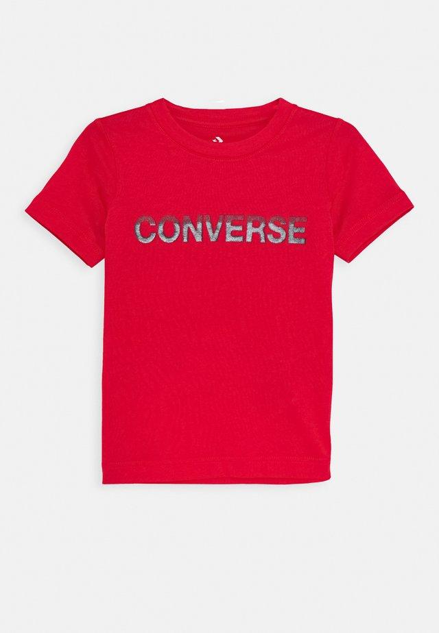 GLOSS TEE - T-shirts med print - university red